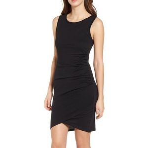 Leith black ruched dress- M, new with tags